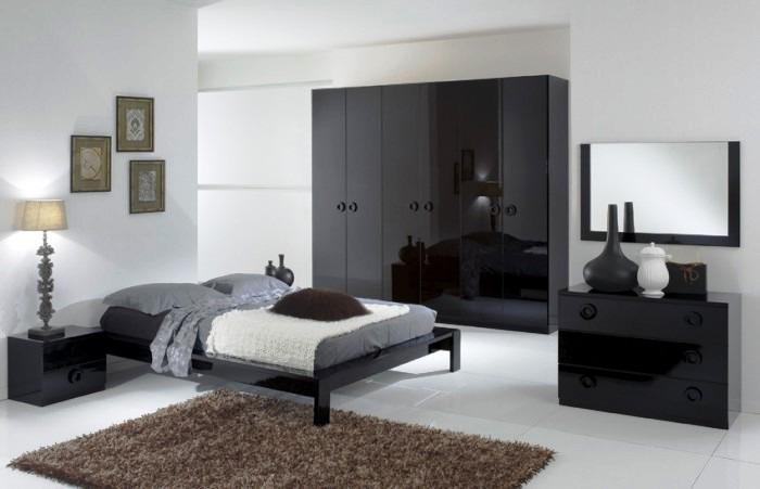 Camera da letto moderna essenzialit freddezza eleganza - Camera da letto bianca moderna ...