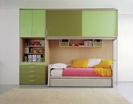 Camerette ponte salvaspazio letto incastonato - Camerette per stanze piccole ...