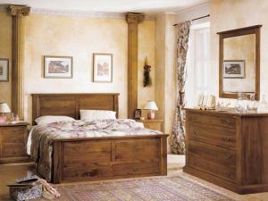 Camera da letto country
